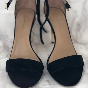 Strappy Black & Gold High Heel Sandals